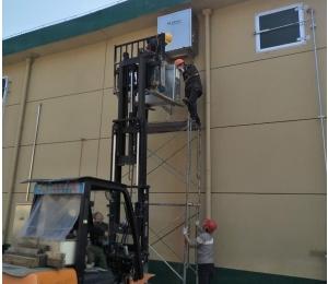 分体式粮食专用空调安装现场